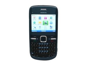 Nokia C3-00 Blue Unlocked GSM Phone w/ Full QWERTY Keyboard / Wi-Fi / 2.0 MP Camera / Bluetooth v2.1  (C3-00)