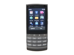Nokia Touch and Type Dark Metal 3G Unlocked GSM Touch Screen Phone with 5MP Camera / Wi-Fi (X3-02)