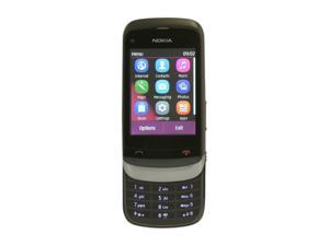 "Nokia Touch and Type US C2-02 Dark Chrome Unlocked GSM Slide Phone / 2 MP Camera / Bluetooth / Music / 2.6"" Touchscreen"