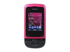 "Nokia C2-05 Pink Unlocked GSM Slider Phone w/ Bluetooth / VGA Camera / 2"" Display"