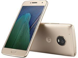 Moto G5 Plus XT1687 32GB Smartphone (Unlocked, Fine Gold) - US Warranty