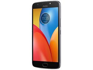 "Motorola Moto E4 (4th Gen) Plus 4G LTE Unlocked Cell Phone (5.5"" 32GB 2GB RAM) Iron Gray"