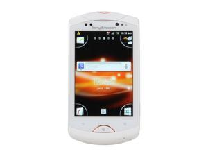 """Sony Live with Walkman 320MB storage, 512 MB RAM Unlocked GSM Cell Phone w/ Android 2.3 / 3.2"""" Touch Screen 3.2"""" White"""