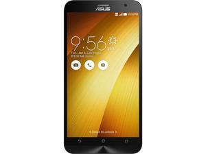 "Asus Zenfone 2 Unlocked Smart Phone, 5.5"" Gold, 64GB Storage 4GB RAM, US Warranty"
