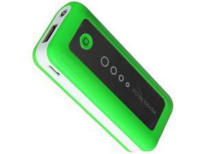 Wireless Xcessories Group Green 5600 mAh High Power External Battery Pack w/LED Indicator & Flashlight XFBAT5600GR