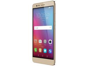 Honor 5X - Metal body, Fingerprint sensor, 5.5 Inch, 1080p FHD Display, 4G LTE, Unlocked GSM Smartphone - USA Warranty - 16GB Gold