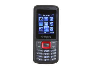 Unnecto ECO Black / Red Unlocked Bar Phone w/ Dual Sim