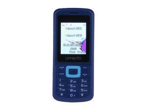 Unnecto ECO Blue / Blue Unlocked Bar Phone w/ Dual Sim