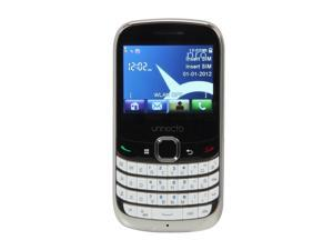 Unnecto Pro U-600-2NA White Wi-Fi Touch Screen Qwerty Keyboard Camera Unlocked GSM Cell Phone