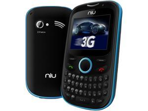 NIU Pana 3G TV N206 Blue 3G Unlocked Dual SIM Cell Phone