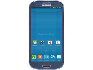 100% Free LTE Mobile Phone Service w/ Samsung Galaxy S3 Blue - FreedomPop (Certified Pre-owned)