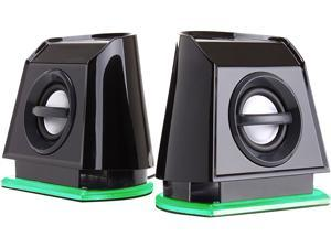 GOgroove BassPULSE 2MX USB Computer Speakers with Green LED Lights, Dual Drivers & Passive Subwoofer - Works with PC, Apple MAC, Dell, HP, CybertronPC Desktop & Laptop Computers