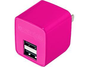 DigiPower - iEssentials - 2.4amp Dual USB Wall Charger - Pink