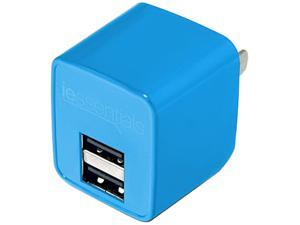 DigiPower - iEssentials - 2.4amp Dual USB Wall Charger - Blue