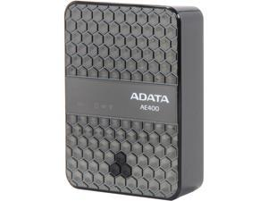 ADATA DashDrive Air AE400 Black 5000 mAh Wireless Storage Reader and Power Bank AAE400-CBKSV