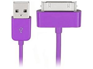 4XEM 4X30PINCBLPL Purple 30-Pin To USB 2.0 Cable For iPhone/iPod/iPad