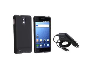 Insten Black Hard Case + Car Charger For Samsung Infuse 4G i997