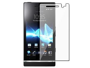 Insten Black S Shape TPU Case + Clear Film + USB + Car Charger + Holder For Sony Xperia U ST25i