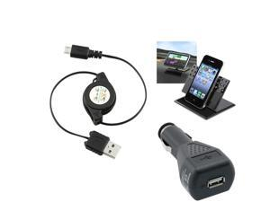 Insten 3in1 Car Stand Mount+USB+Car Charger for Samsung Galaxy S III S 3 S3