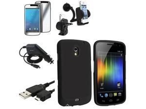 Insten 5in1 Accessory Black Case+Charger+LCD+Holder For Samsung Galaxy Nexus i515 i9250