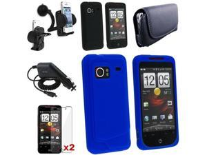 Insten 7in1 Accessory Bundle Case LCD For HTC Droid Incredible