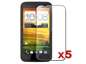 Insten 5X Clear LCD Screen Protector Film Guard for HTC One X XL Phone