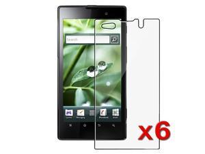 Insten 6X Clear LCD Screen Protector Guard Cover Film For Sony Xperia Ion LT28AT