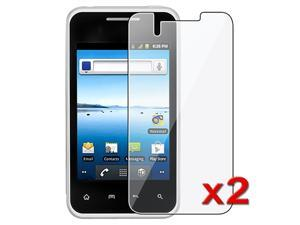 Insten 2x Reusable Clear Screen Protector LCD Film For LG Optimus Elite LS696