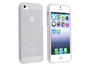 Insten Frost White Soft TPU Case + Black Stylus Compatible With Apple iPhone 5 5G Gen