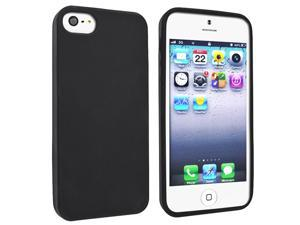 Insten Premium Black Silicone Thin Case Cover + Pen Stylus Fit Compatible With Apple iPhone 5 5G