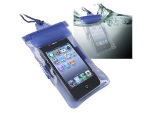 Insten Blue Waterproof Bag Case Skin And In Car Charger Compatible With iPhone 5 / 5s / 5c 4s 3GS 908879