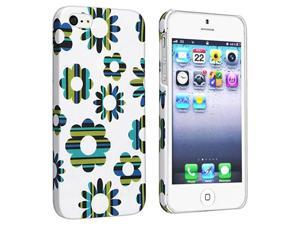 Insten 2-Pack Clip-on Rubber Coated Cases - Flower Rear Style 61 , Flower Rear Style 62 Compatible With Apple iPhone 5 / ...