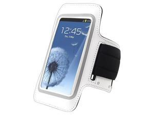 Insten Armband Compatible with Samsung Galaxy SIII / S3 , White
