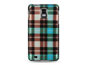Samsung Infuse 4G I997 Blue Checker Design Crystal Case