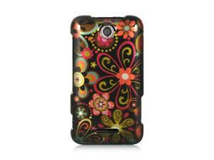 Luxmo Black Black Multi Flower Design Case & Covers ZTE Score M X500M