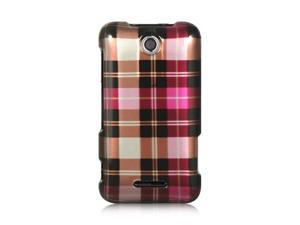 Luxmo Hot Pink Hot Pink Checker Design Case & Covers ZTE Score M X500M