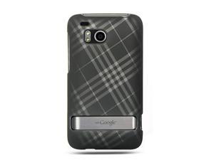 Luxmo Smoke Smoke Diagonal Checker Design Case & Covers HTC Thunderbolt/HTC Incredible HD/HTC 6400