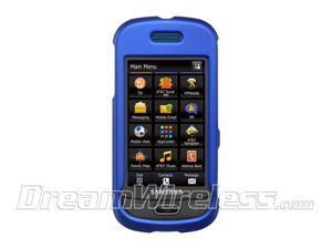 Samsung Eternity II/Samsung A597 Blue Crystal Rubberized Case