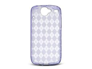 Luxmo Purple Purple Checker Design Case & Covers Google Nexus 1