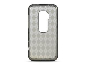HTC EVO 3D Smoke Checker Design Crystal Skin
