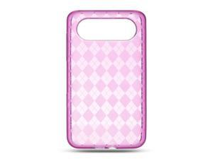 HTC HD7S/HTC HD7 Hot Pink Checker Design Crystal Skin