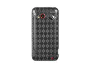 HTC Droid Incredible 4G LTE Clear Checker Design Crystal Skin