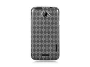 HTC One X Clear Checker Design Crystal Skin