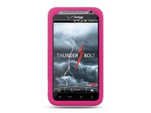 HTC Thunderbolt/HTC Incredible HD/HTC 6400 Hot Pink Silicone Skin