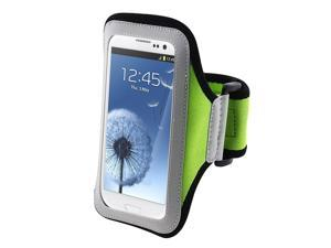 Insten Light Green Armband Case Cover + Reusable Screen Protector compatible with Samsung  Galaxy SIII / S3