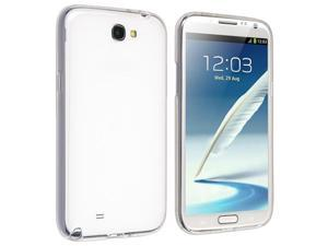 Insten Clear Pudding TPU Rubber Case Cover + Anti-Glare LCD Cover compatible with Samsung  Galaxy Note II N7100