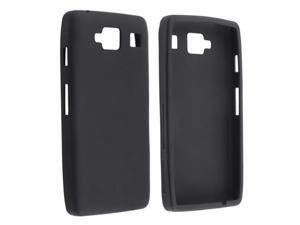 Insten Black Silicone Case Cover + Reusable Screen Protector compatible with Motorola Droid Razr Maxx HD XT926M