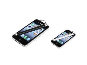 Insten Black White Dust Cap Screen Touch Stylus for Samsung Galaxy S III i9300 S3