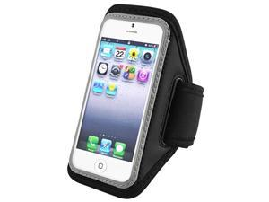 Insten Deluxe ArmBand Compatible with Apple iPhone 5 / 5S / touch 5th Generation, Silver