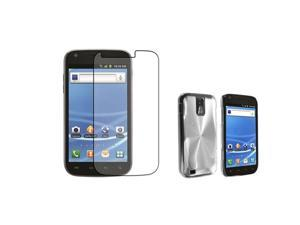 Insten Aluminum Hybrid Case + Anti-Glare LCD Cover compatible with Samsung Galaxy S II T-Mobile T989